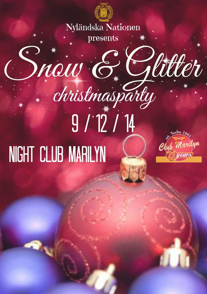 snow and glitter